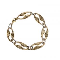 Złota dwukolorowa bransoletka