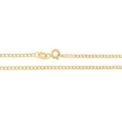 Złoty łańcuszek pancerka 60 cm