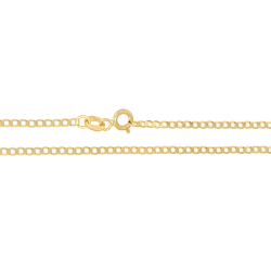 Złoty łańcuszek pancerka 50 cm