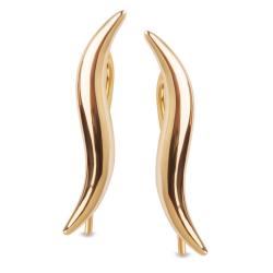 Złote kolczyki nausznice