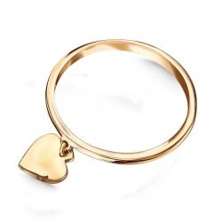 Złoty pierścionek z zawieszką