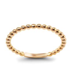 Złoty pierścionek modowy