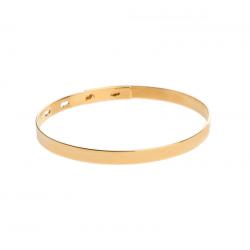 Sztywna złota bransoletka