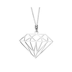 Srebrny naszyjnik diament origami